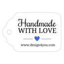 Handmade with love tags - Royal blue - Dazzling Daisies