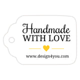 Handmade with love tags - Yellow - Dazzling Daisies