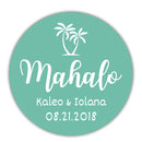 "Mahalo stickers - 1.5"" circle = 30 labels per sheet / Ocean - Dazzling Daisies"