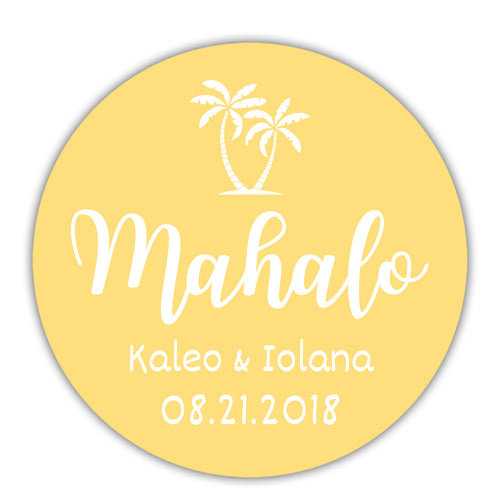 "Mahalo stickers - 1.5"" circle = 30 labels per sheet / Sunrise - Dazzling Daisies"