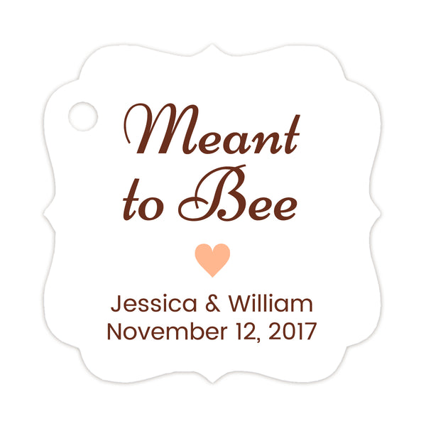 Meant to bee tags - Peach - Dazzling Daisies