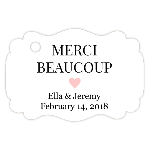 Merci beaucoup tags - Blush - Dazzling Daisies