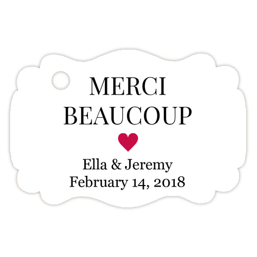 Merci beaucoup tags - Raspberry - Dazzling Daisies