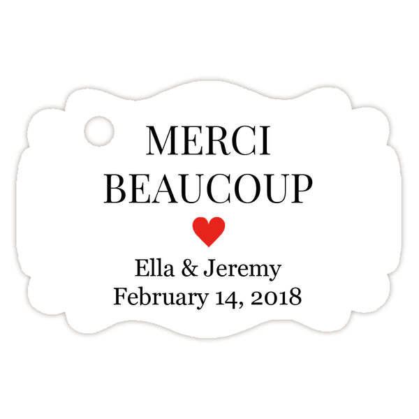 Merci beaucoup tags - Red - Dazzling Daisies