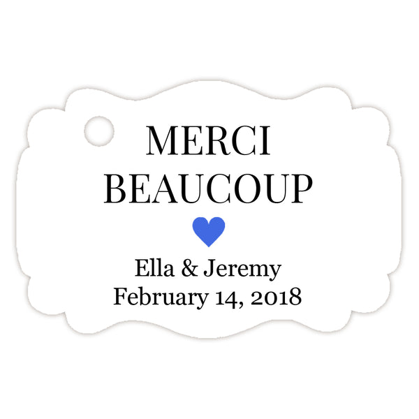 Merci beaucoup tags - Royal blue - Dazzling Daisies