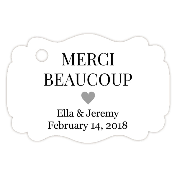 Merci beaucoup tags - Silver - Dazzling Daisies