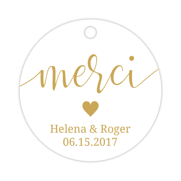 Merci tags - Gold - Dazzling Daisies