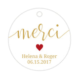 Merci tags - Indian red - Dazzling Daisies