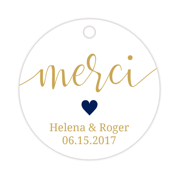 Merci tags - Navy - Dazzling Daisies