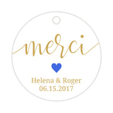 Merci tags - Royal blue - Dazzling Daisies