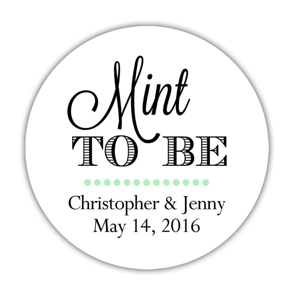 "Mint to be stickers - 1.5"" circle = 30 labels per sheet / Black - Dazzling Daisies"