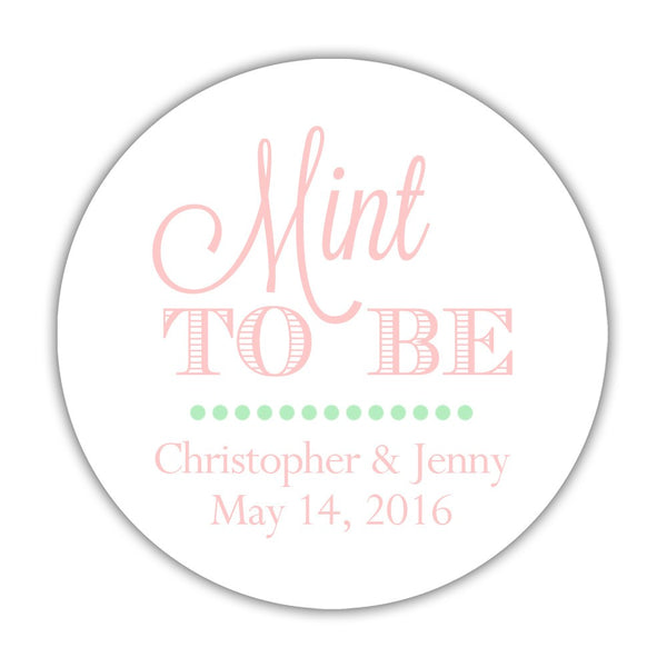 "Mint to be stickers - 1.5"" circle = 30 labels per sheet / Blush - Dazzling Daisies"
