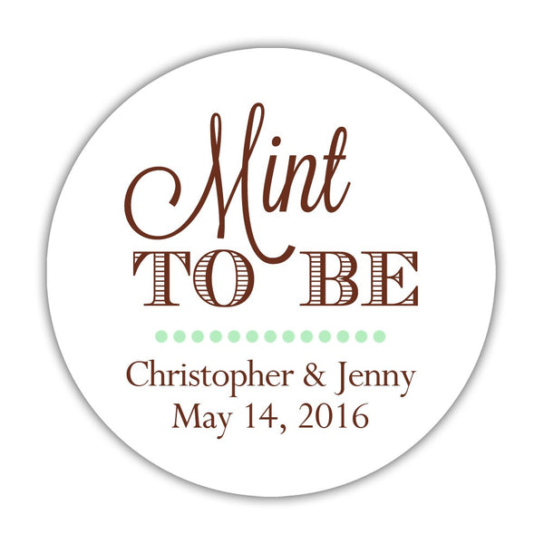 "Mint to be stickers - 1.5"" circle = 30 labels per sheet / Chocolate - Dazzling Daisies"