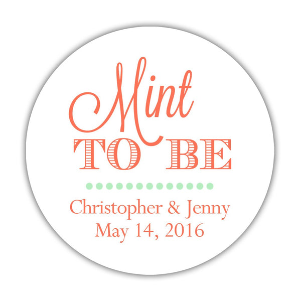 "Mint to be stickers - 1.5"" circle = 30 labels per sheet / Coral - Dazzling Daisies"