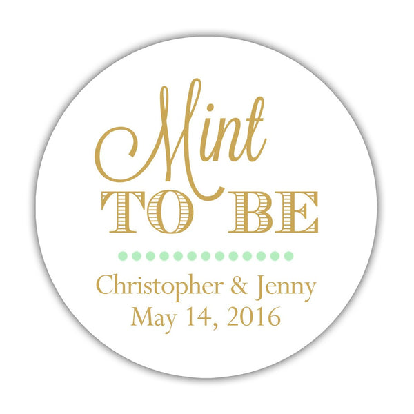 "Mint to be stickers - 1.5"" circle = 30 labels per sheet / Gold - Dazzling Daisies"