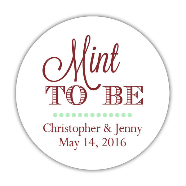 "Mint to be stickers - 1.5"" circle = 30 labels per sheet / Maroon - Dazzling Daisies"
