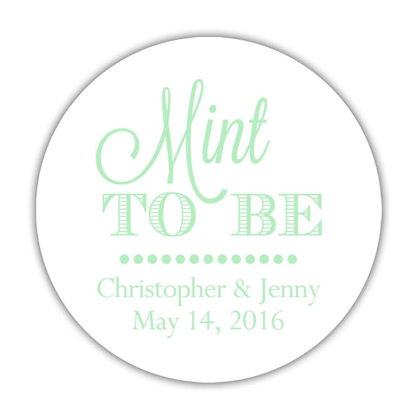"Mint to be stickers - 1.5"" circle = 30 labels per sheet / Mint - Dazzling Daisies"
