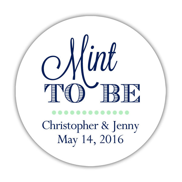 "Mint to be stickers - 1.5"" circle = 30 labels per sheet / Navy - Dazzling Daisies"