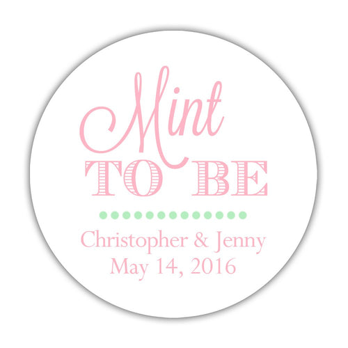 "Mint to be stickers - 1.5"" circle = 30 labels per sheet / Pink - Dazzling Daisies"