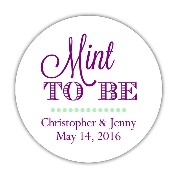 "Mint to be stickers - 1.5"" circle = 30 labels per sheet / Purple - Dazzling Daisies"