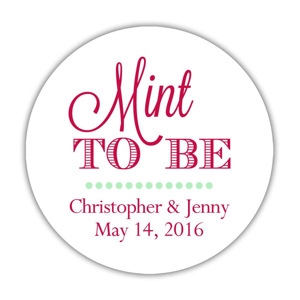 "Mint to be stickers - 1.5"" circle = 30 labels per sheet / Raspberry - Dazzling Daisies"