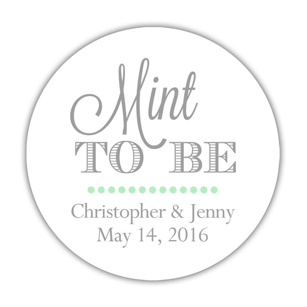 "Mint to be stickers - 1.5"" circle = 30 labels per sheet / Silver - Dazzling Daisies"