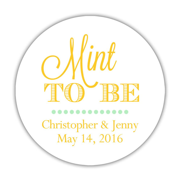 "Mint to be stickers - 1.5"" circle = 30 labels per sheet / Yellow - Dazzling Daisies"