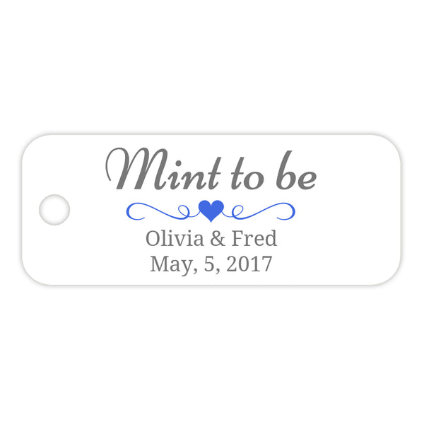 Mint to be tags - Royal blue - Dazzling Daisies