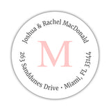 Monogram address labels 'Simply Classic' - Blush - Dazzling Daisies