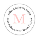 Monogram address labels
