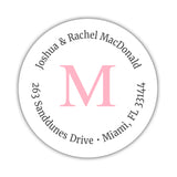 Monogram address labels 'Simply Classic' - Pink - Dazzling Daisies