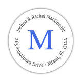 Monogram address labels 'Simply Classic' - Royal blue - Dazzling Daisies