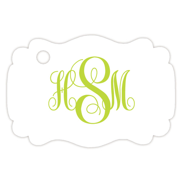 Monogram tags 'Ornate Elegance' - Lime - Dazzling Daisies