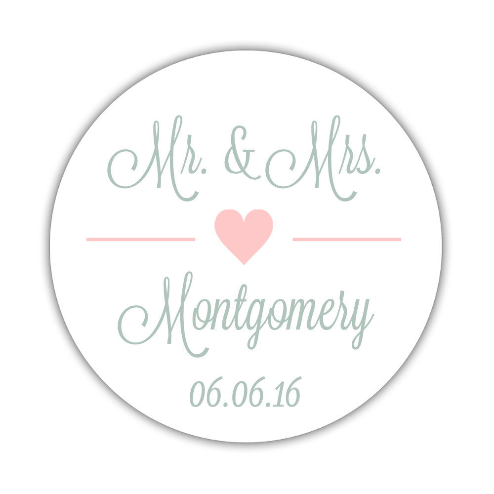 Mr. and Mrs. stickers
