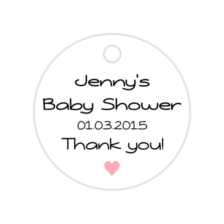 Baby shower tags 'Little Feet'