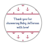 Nautical baby shower stickers - 1.5