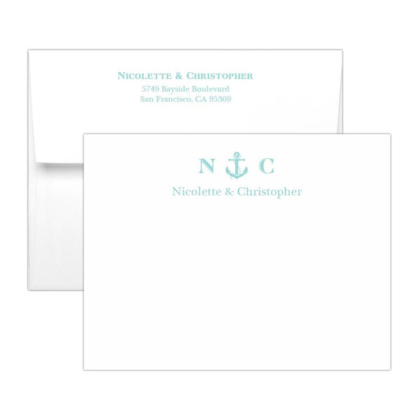 Nautical note cards - Aquamarine - Dazzling Daisies