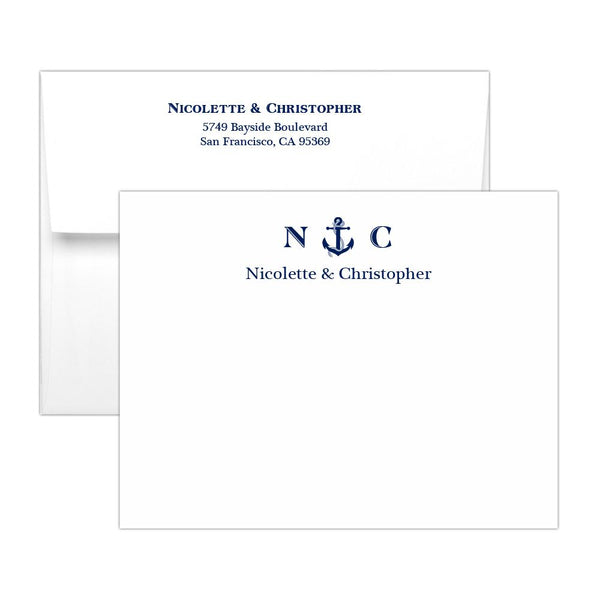 Nautical note cards - Navy - Dazzling Daisies