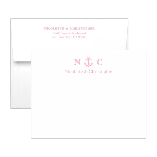 Nautical note cards - Pink - Dazzling Daisies
