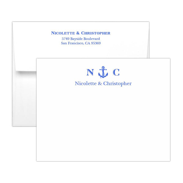 Nautical note cards - Royal blue - Dazzling Daisies