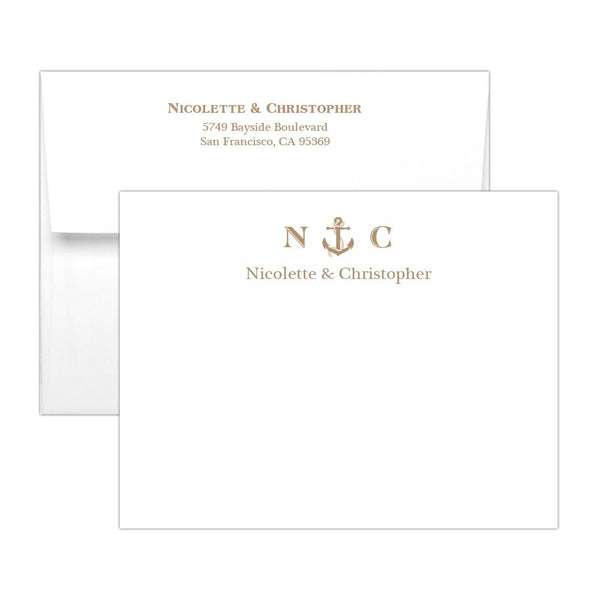 Nautical note cards - Sand - Dazzling Daisies