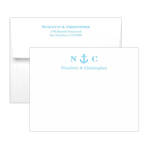 Nautical note cards - Sky blue - Dazzling Daisies