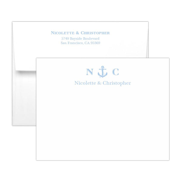 Nautical note cards - Steel blue - Dazzling Daisies