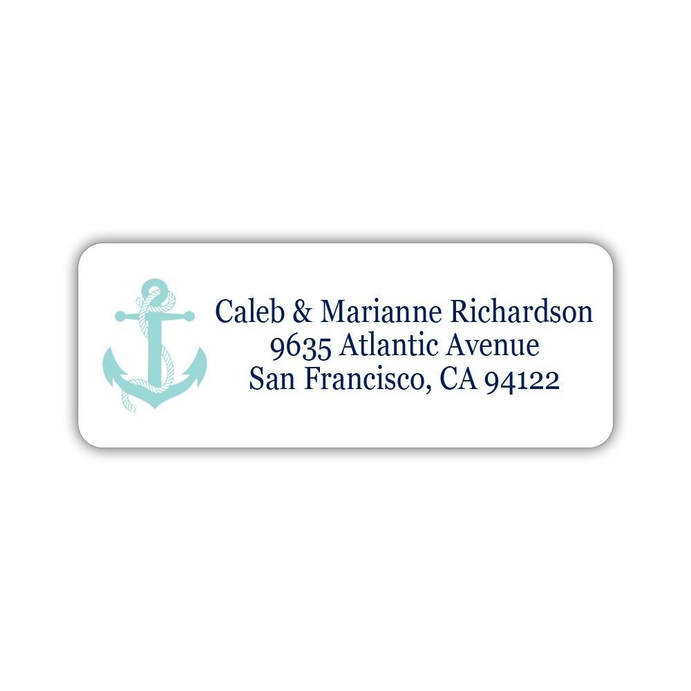 Nautical address labels - Silver - Dazzling Daisies