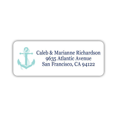 Nautical address labels - Aquamarine - Dazzling Daisies