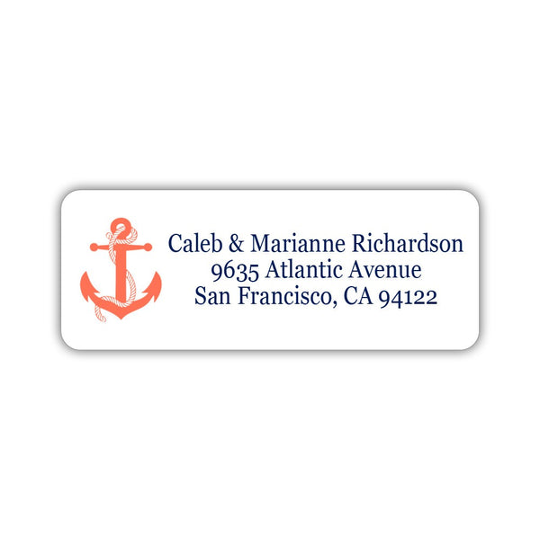 Nautical address labels - Coral - Dazzling Daisies