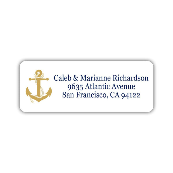 Nautical address labels - Gold - Dazzling Daisies