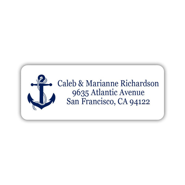 Nautical address labels - Navy - Dazzling Daisies