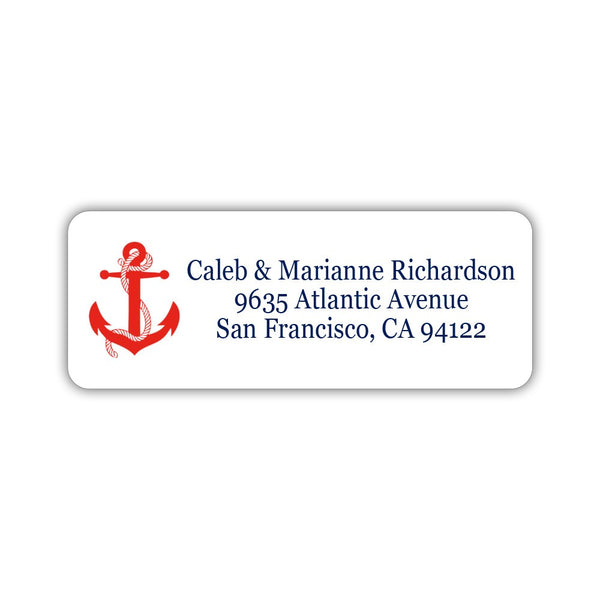 Nautical address labels - Red - Dazzling Daisies