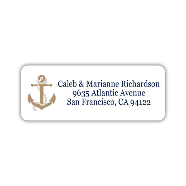 Nautical address labels - Sand - Dazzling Daisies